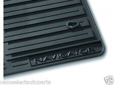 OEM NEW 2007-2010 Lincoln Navigator All-Weather Vinyl Floor Mats Rubber - Black