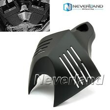 Black V-shield Horn Cover For Harley Davidson Dyna Street Bob FXDB Fat Bob FXDF
