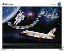 Space Shuttle Challenger Tribute Poster, NASA, 10x8 inch Print