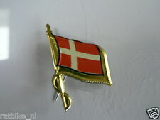 PINS,SPELDJES 50'S/60'S COUNTRY FLAGS 21 DENMARK VINTAGE VERY OLD VLAG