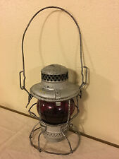 ADLAKE 2-55 UNION PACIFIC - U.P. RAILROAD LANTERN WITH ETCHED RED GLOBE, KERO
