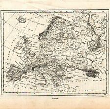 Carta geografica antica dell' EUROPA Kerbs 1897 Old map