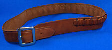 "Vintage Hand Made By Viking Mexican Leather Gun Ammo Belt .22L 7012 43"" Long"