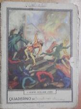 Vecchia quaderno scolastico epoca fascista Masco I VESPRI SICILIANI 1282 scuola