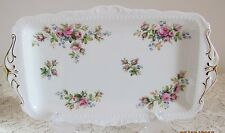 Vintage English Royal Albert 'Moss Rose' bone china cake plate / tray