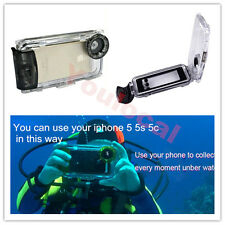 40m/130FT Waterproof Photo Housing Underwater Diving Case for iPhone SE 5 5S USA