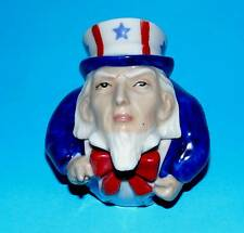 KEVIN FRANCIS pottery ornament 'Uncle Sam' Face pot