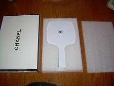 CHANEL Limited Edt. White CC Hand Held Mirror with Gift Box FREE SHIP