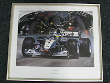 Litho The Silver Dream Collection by Hesselbes McLaren Mercedes MP4/14 99 Framed