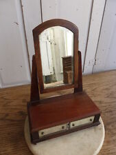 Antique wooden miniature dressing table mirror