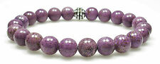 BRACELET - STICHTITE 8mm Round Crystal Bead w/ Description - Healing Reiki Stone
