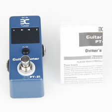 New ENO PT-21 Mini Pedal Tuner True Bypass Guitar Effect Pedal Blue