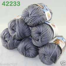 Sale New 6ballsx50g Soft Worsted Cotton Chunky Bulky Hand Knitting Quick Yarn 33