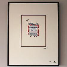 Martin Allen Can Art - Budweiser Honeycomb & Bee in Large Alluminium Frame