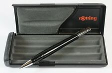 Rotring Initial 0.7mm Mechanical Pencil Black & Chrome NEW Gift Boxed