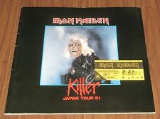 Iron Maiden JAPAN 1981 tour book + TICKET STUB rare CONCERT PROGRAMME debut gig!