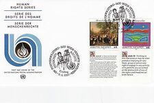 United Nations 1993 Human Rights Series Unadressed(3) FDC