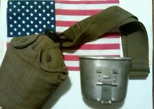 U.S. World War II Canteen, Cover, Mess Tin,and Strap