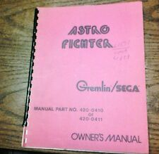 Gremlin/Sega ASTRO FIGHTER Arcade Video Game Manual - good used original