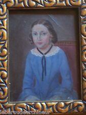 ancienne huile portrait 19èmes old norway portrait Christine Tanning us immigrat