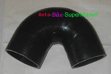 """BLack 2.5"""" - 3"""" INCH 135° DEGREE 63 - 76 mm TURBO SILICONE ELBOW COUPLER HOSE"""