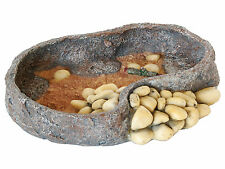 16cm Reptile Food or Water Bowl Repstyle Vivarium Rock Decoration Feeder FP28276