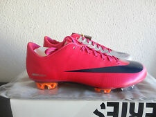 Nike Mercurial Vapor Superfly II FG CHERRY/DRK MTLLC 396127 640 UK6 US7 PINK