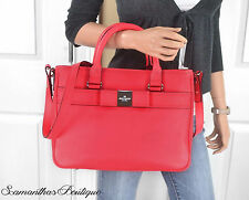 NWT KATE SPADE RED LEATHER BOW SATCHEL MESSENGER SHOULDER BAG HOBO HANDBAG PURSE