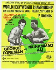MUHAMMAD ALI v GEORGE FOREMAN THE RUMBLE IN THE JUNGLE PROMO POSTER
