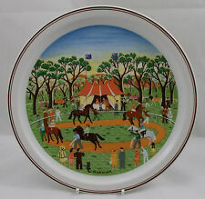 Villeroy & and Boch SCENES OF AUSTRALIA No3 Country Races plate N Wildman BL074