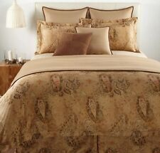 RALPH LAUREN RUE ROYALE VERDONNET PAISLEY SATIN KING SIZE FLAT DRAP SHEET NEW!!!