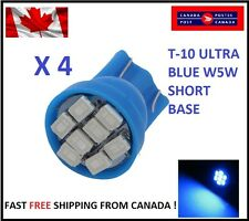 4X Blue LED T10 8SMD/5050/194Bulbs Cluster Light 68 W5W license Plate Short Base
