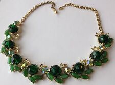 VINTAGE VENDOME SIGNED GREEN MOONSTONE, BOREALIS, AND BEAD NECKLACE