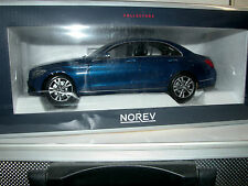 Norev 183470, Mercedes-Benz Clase C, sedán 2014, metalizado azul, 1/18