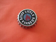 Stiff Little Fingers Bottle Top Badge Punk Rock Suspect Device Rigid Digits SLF