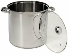 16 Quart Stainless Steel Stock Pot w/ Lid Sauces Soups Kitchen Culinary