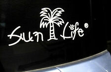 Sun Auto Decal Cut Out-Sun Life with Palm Tree - Buy 1 Get 1 Free!