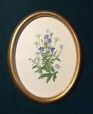 Floral Print 'Autumn Flowers' Signed Anne Ophelia Dowden 1970 Vintage