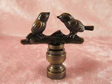 2 Birds In Branches LAMP FINIAL for old antique shade or lampshade