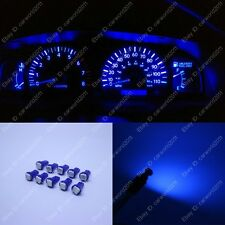 10x Blue T5 73 74 Instrument Gauge Dashboard Speedo LED Light Bulbs For Ford T5B