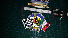 Vespa roundel & flags Sticker, Decal, Mod Wasp RAF Scooter italian, checker