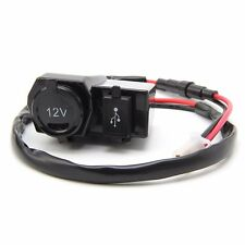 12V MOTORCYCLE USB MOBILE PHONE GPS POWER SUPPLY CHARGER WATERPROOF PORT SOCKET
