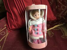 "VANITY FAIR 10"" PINK PORCELAIN DOLL IN WINTER OUTFIT IN ACETATE TUBE"