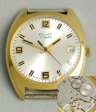 POLJOT klassische, elegante soviet Uhr. USSR vintage, retro gold-filled watch.