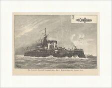 Das österreichische Thurmschiff Kronprinz Erzherz. Rudolf Kircher K&K  E 10631