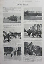1898 BOER WAR ERA PRINT ~ THE HAVRE SQUAD AT DRILL FRENCH DRUMMERS REGIMENT