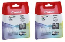2 X BLACK + 2 X COLOUR PG-510 CL-511 PIXMA MP480 IP2702 Original Ink Cartridges