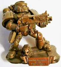 Sideshow Warhammer 40K Brother Meridicus Promo Bronze Factory Painted Srs 1