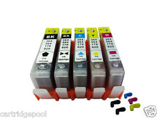 5 Refillable ink cartridge with chip for HP 564 XL OfficeJet 4620 4622