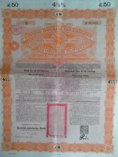 China Chinese 1898 Asia UNCANCELLED Gold DAB GB £ 50 Pounds Loan Bond